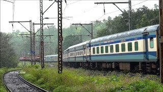 HYBRID LHB TRAIN : INDIAN RAILWAYS ( 12542 LTT- GKP : SANT KABIR DHAM EXPRESS)   THULL GHAT KASARA