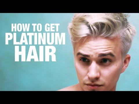 How To Platinum Blonde Hair For Men Step By Step