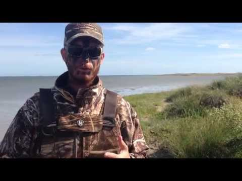 Capt. Josh with a duck hunting tip, November 2014 Baffin Bay Rod and Gun