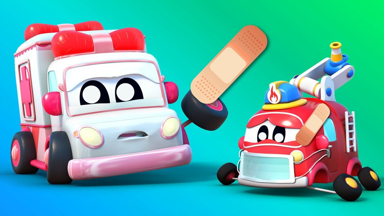 Baby Trucks - BABY CARS play DOCTOR with the AMBULANCE | Go Go Babies | Car City World App