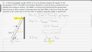 Physics: Static Equilibrium : Example - Ladder Question