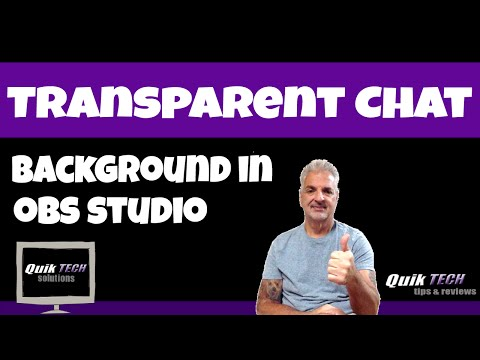 How To Make A Youtube Live Stream Chat Window Transparent In Obs