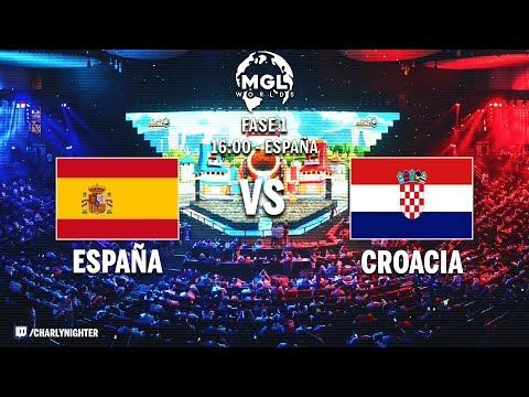 España vs Croacia   Primer partido oficial MGL Worlds   BRUTAL!!   Clash Royale