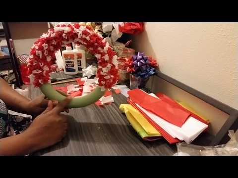 Paper Floral Christmas Wreath | DIY