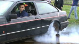 Ford Sierra 2.0 DOHC burnout