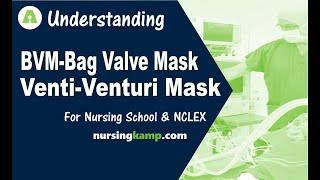 What is a Venti Mask Oxygen Delivery BVM High Flow Venturi Mask Nursing KAMP NCLEX Review 2019