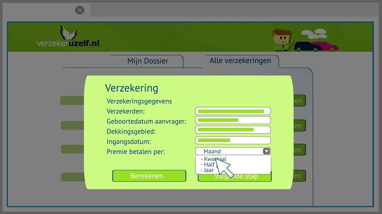 Verzekering Berekenen En Afsluiten Verzekeruzelfnl Youtube