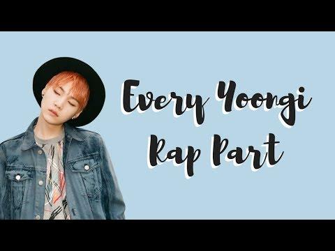 All Yoongi Rap Parts