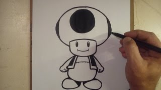 COMO DIBUJAR A TOAD - MARIO BROS / how to draw toad - mario bros