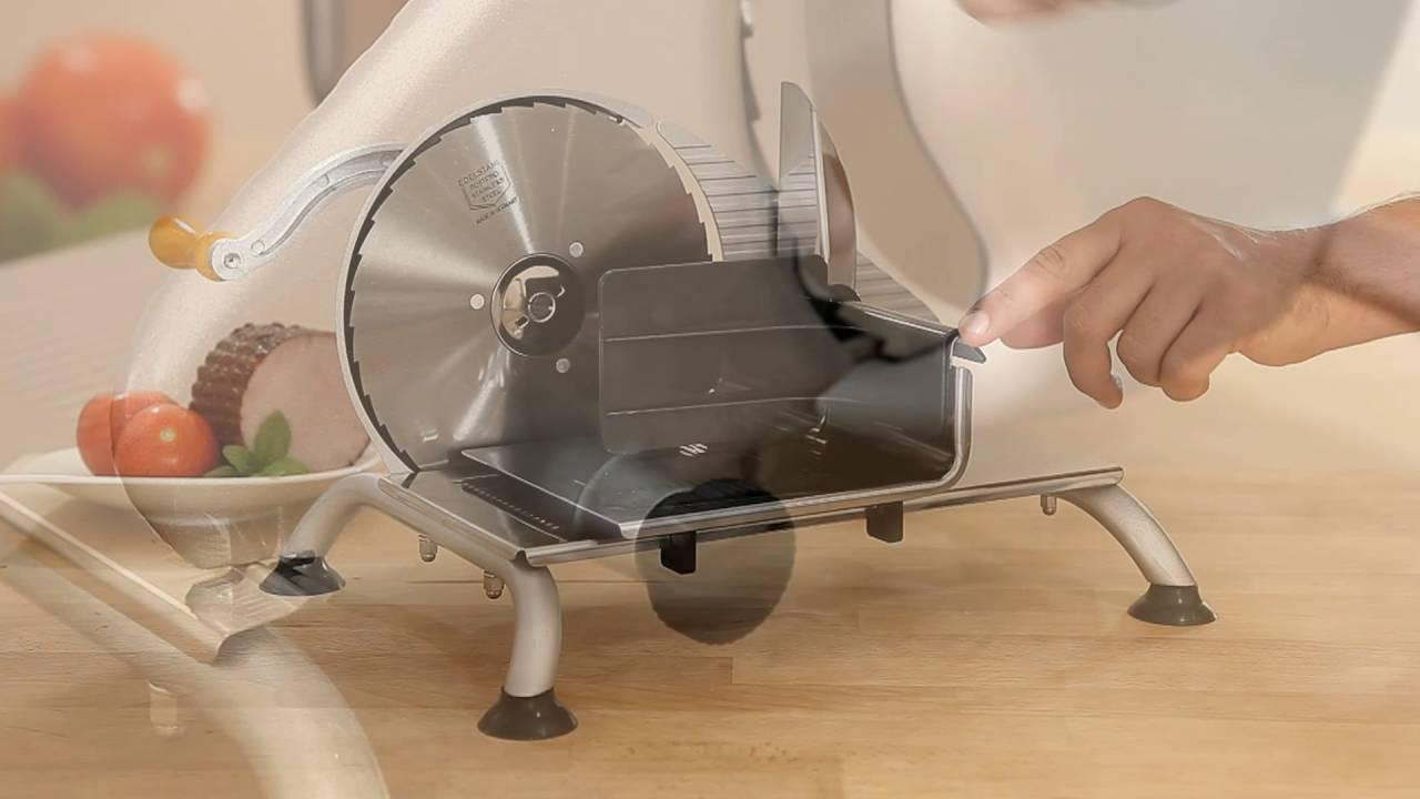 trancheuse manuelle inox pour pain jambon et charcuteries tom press youtube. Black Bedroom Furniture Sets. Home Design Ideas