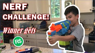 NERF CHALLENGE AND THE WINNER GETS ROBUX!