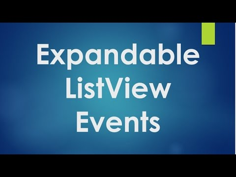 Android tutorial for beginners - 100 - Events and action listeners of expandable list view