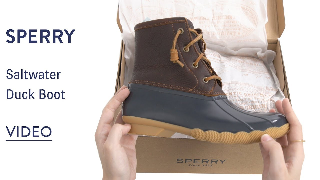 Womens Sperry Saltwater Duck Boot Sale