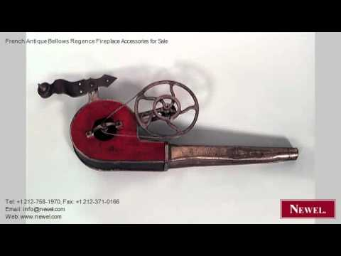 French Antique Bellows Regence Fireplace Accessories for
