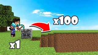 1 BLOQUE = 100 BLOQUES ROTOS - MINECRAFT