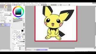 Как вставлять картинку на фон (видео урок по программе PaintTool SAI №1)