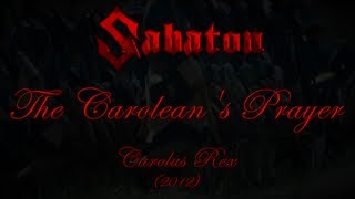 Watch Sabaton The Caroleans Prayer video