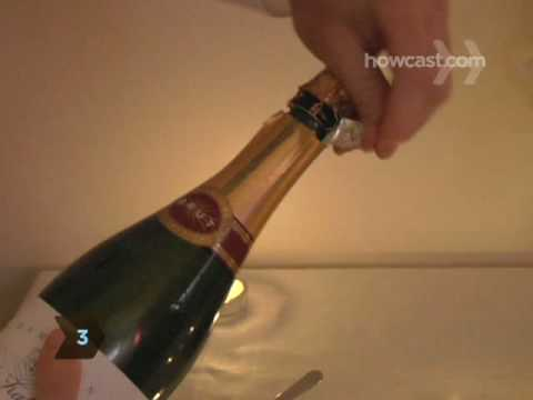 Opening A Champagne Bottle - Pop the Cork Without A Mess