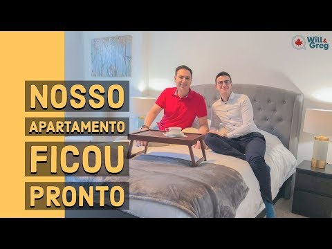 Tour do nosso apartamento pronto e decorado no Canadá.