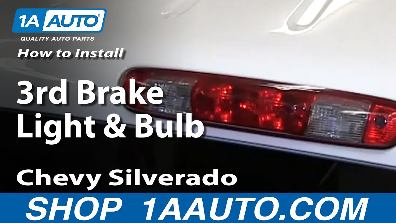 How To Install Change 3rd Brake Light and Bulb 2007 13 Chevy     How To Install Change 3rd Brake Light and Bulb 2007 13 Chevy Silverado GMC  Sierra   YouTube