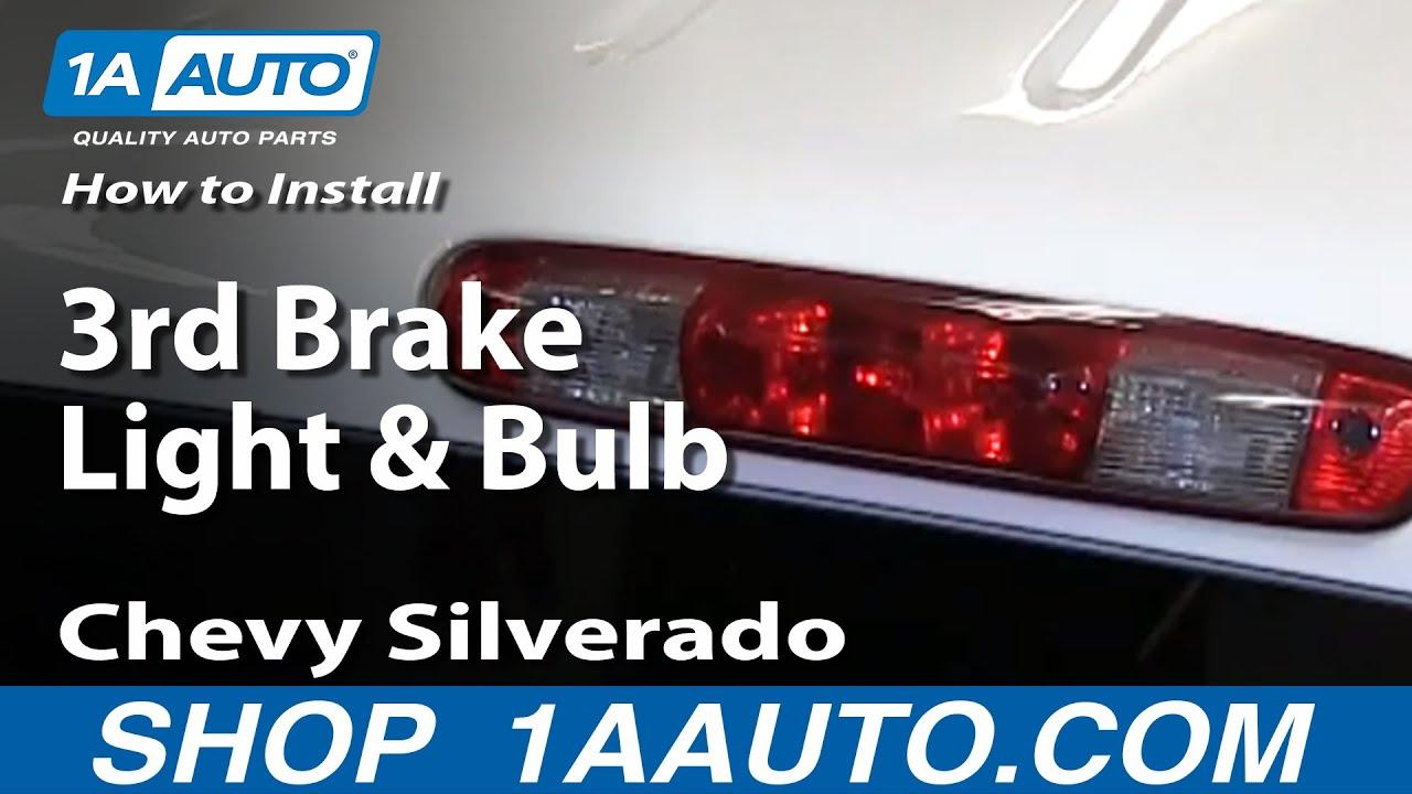 how to change 3rd brake light bulb 07 13 chevy silverado [ 1280 x 720 Pixel ]