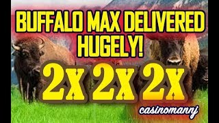 💥BUFFALO MAX DELIVERS HUGELY!💥  - 🐂MAX BET PLAY AND BONUS FEATURES! 🐂