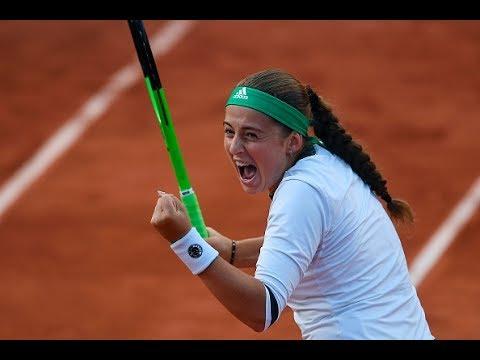 2017 Roland Garros Quarterfinals | Jelena Ostapenko vs Caroline Wozniacki | Highlights