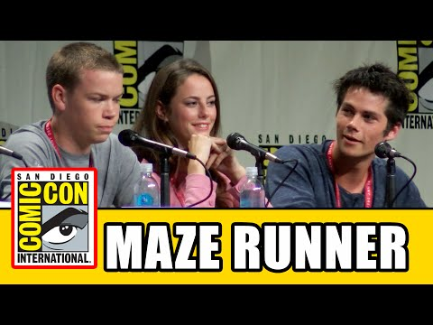 The Maze Runner Comic Con Panel - Dylan O'Brien, Kaya Scodelario, Will Poulter