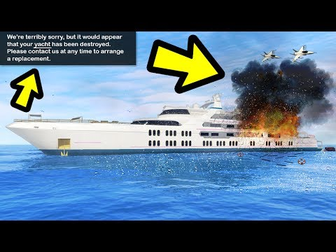 WHAT HAPPENS IF YOU CALL AN AIRSTRIKE ON A YACHT? (GTA 5)