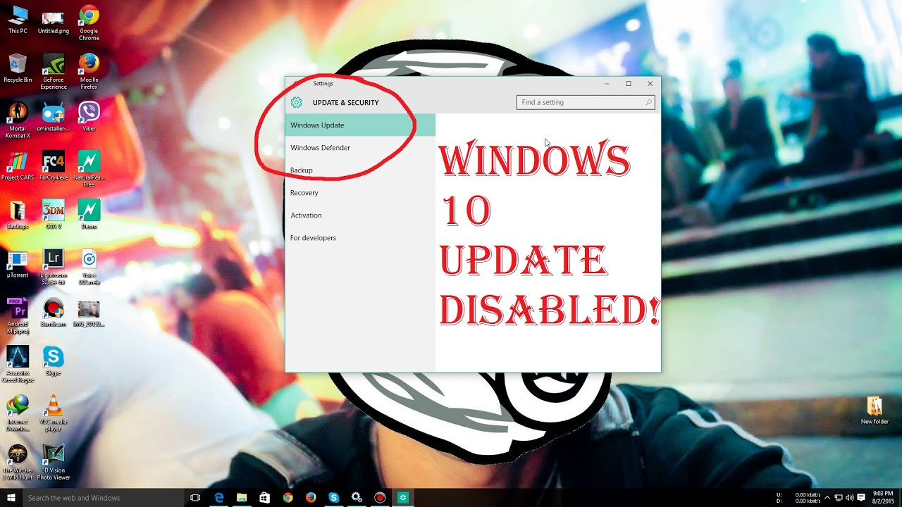 how to disable win 10 updates