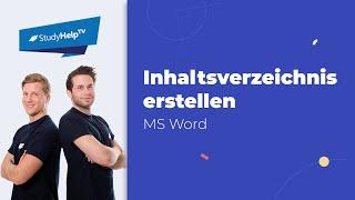 Inhaltsverzeichnis in Word erstellen - Hausarbeit