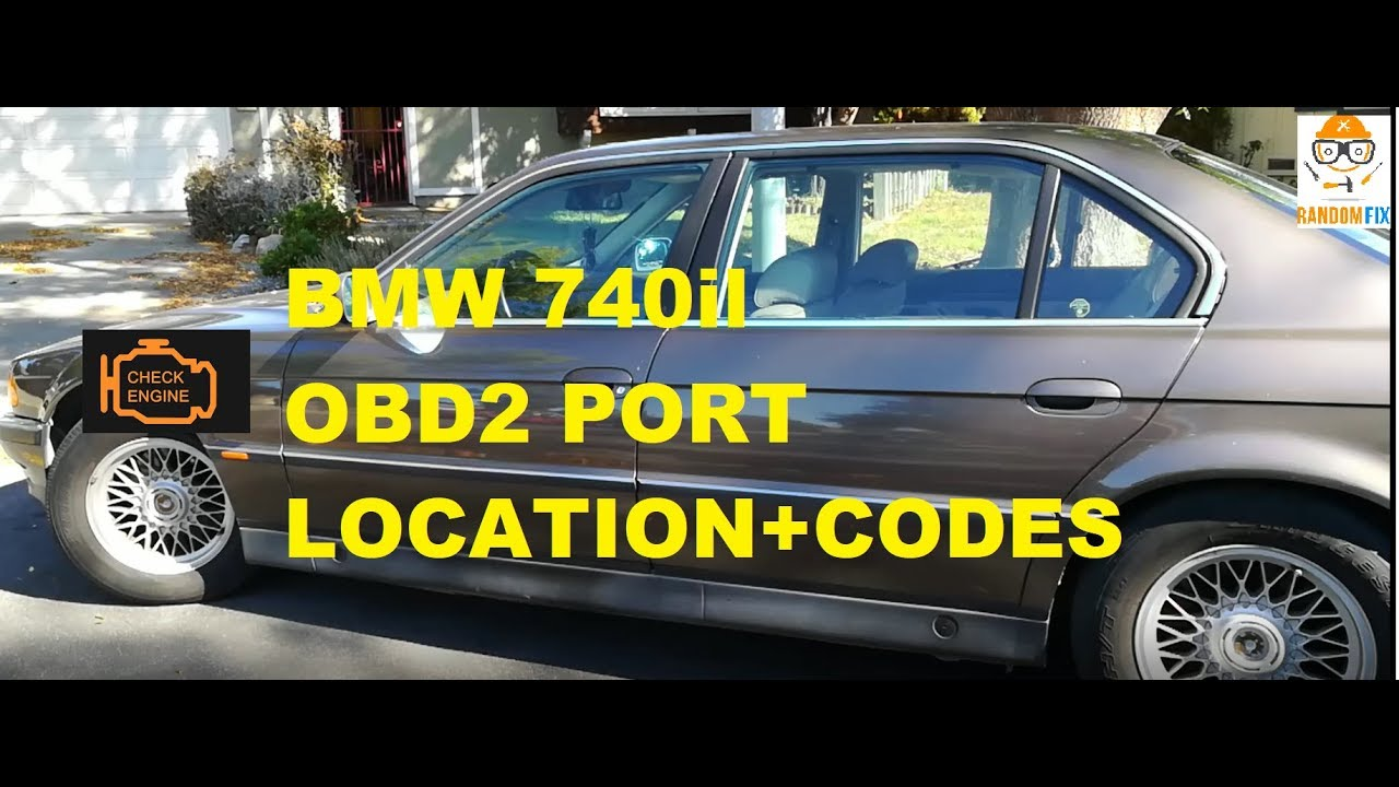 how to locate obd2 obdii port on 1996 1997 1998 1999 2000 bmw 740 and reset check engine light e38 [ 1280 x 720 Pixel ]