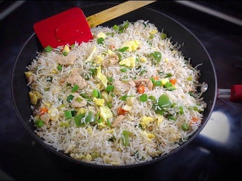 How to Make Chicken Fried Rice Pakistani Style Homemade Easy Video Tutorial