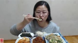 [Japchae rice] 잡채를 김에 싸서 한입~그리고 밥