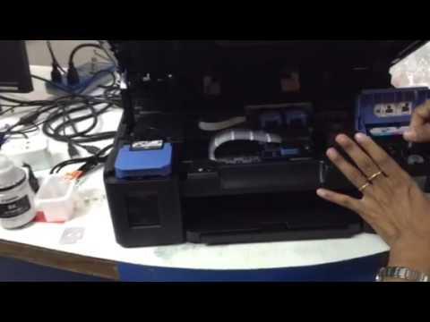 How to fix g2000 blinking 7 times the ink absorber full