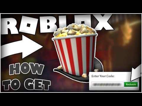[PROMO CODE] How to get the Showtime Bloxy Popcorn Top Hat [ROBLOX]