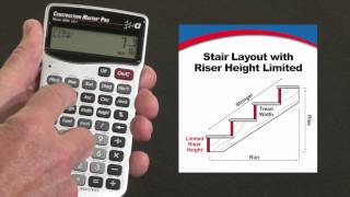 How to Calculate Stair Layout with Fixed Riser Height | Construction Master Pro
