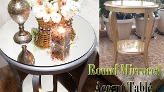 DIY: Round Mirrored Accent Table / kary dasti - How To Decorate Your Table?!