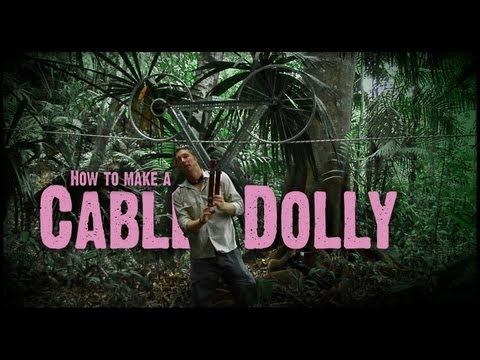 DIY Cable Dolly from Bike Wheels
