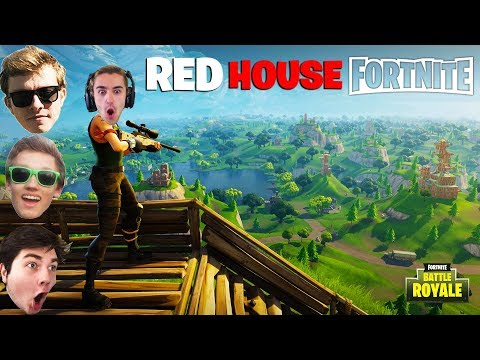 RED HOUSE SNIPES ON FORTNITE BATTLE ROYAL! - Funny Moments