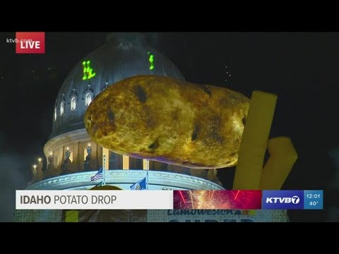 Watch: Idaho Potato Drop Rings In The New Year In Downtown Boise