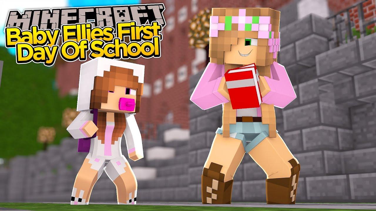 Minecraft Little Kelly BABY ELLIES FIRST DAY OF SCHOOL