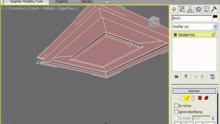 Декорируем потолок и приделываем плинтусы в 3DS Max (3/32)