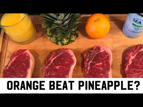 Orange & Pineapple Marinade Tenderizer New York Strip - Why hasn't anyone TRIED this YET? Part 2