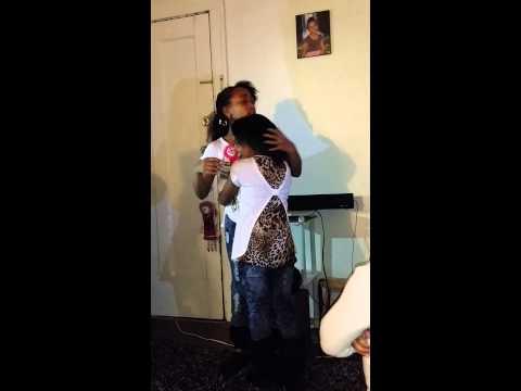 Girl cries while singing