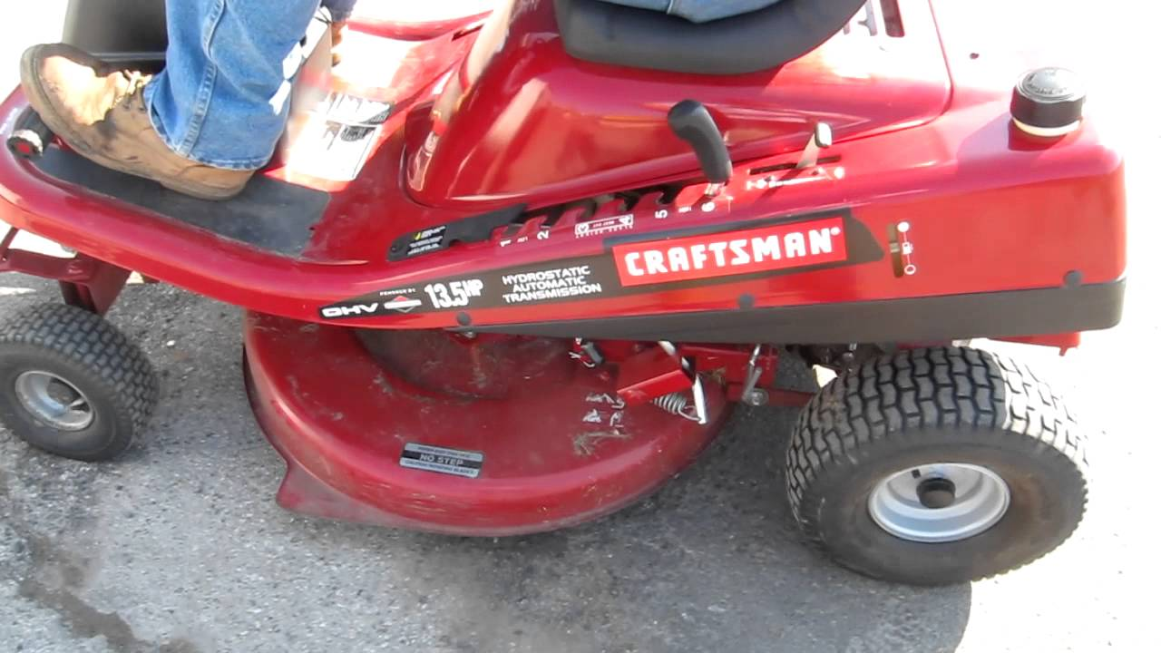 maxresdefault craftsman 13 5 hp 30 inch mid engine riding lawnmower youtube Craftsman RER 1000 Manual at virtualis.co