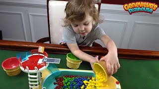 Genevieve Teaches Kids Colors with Rainbow Candy and Peppa Pig!