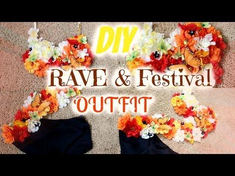 DIY Summer Rave Bra Outfit | EDC Idea