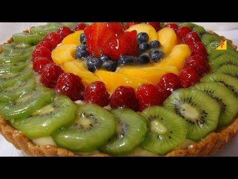 Receita de Torta de Frutas - Curso CPT Como Fazer tortas de Vitrine