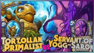 Hearthstone - Tortollan Primalist vs Servant of Yogg Saron - Funny and lucky Rng Moments